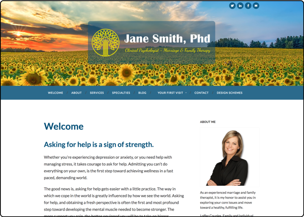TherapyTribe Websites for Therapists Demo